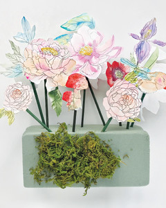 Watercolor paper flower arrangement martha stewart watercolor paper flower arrangement by kristy rice mightylinksfo