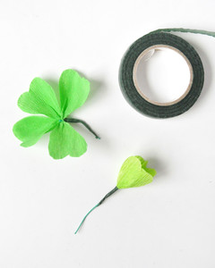 St Patrick's Day gold clover wreath