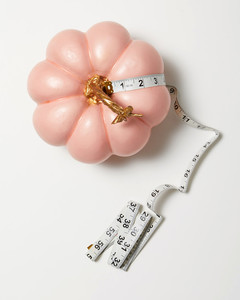 pink pearl velvet decorated pumpkin step 1