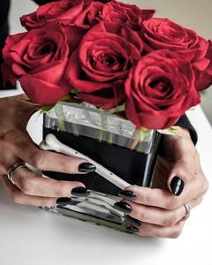 rose and bone centerpiece
