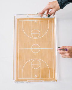 march madness basketball court serving tray step 1