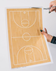 march madness basketball court serving tray step 2