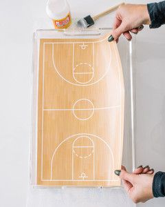 march madness basketball court serving tray step 4