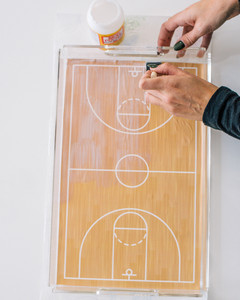 march madness basketball court serving tray step 6