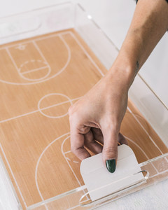 march madness basketball court serving tray step 9