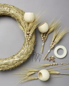 making a wheat wreath supplies