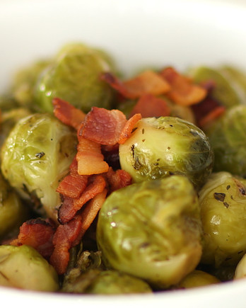 Brown-Sugar-and-Bacon-Glazed Brussels Sprouts Video EDFSC