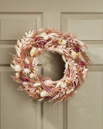 fall wreath on the front door