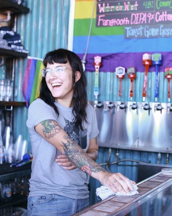 Kat Telesca at Coney Island Brewery