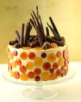 Caramel Chiffon Cake Frosted