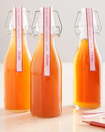 橙色茴香酒swing-top玻璃瓶