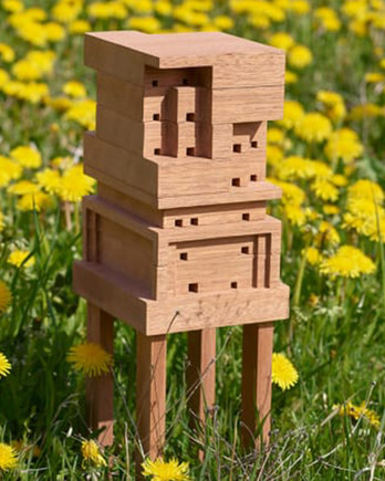 diy bee home for backyards