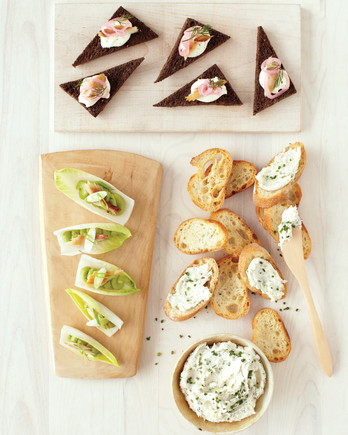 three party appetizers smoked trout