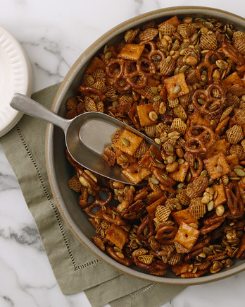 Spicy-Sweet Maple Snack Mix EH