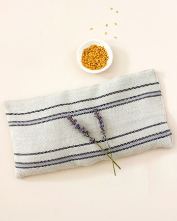lavender sprigs on eye pillow