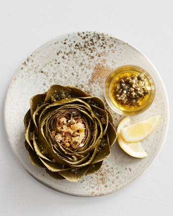 artichokes stuffed with caper and cornichons