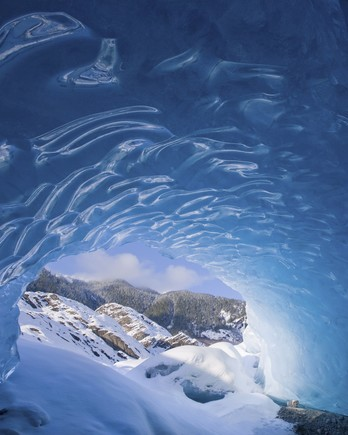 ice caves in Juneau, Alaska