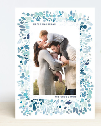 Minted Hanukkah card