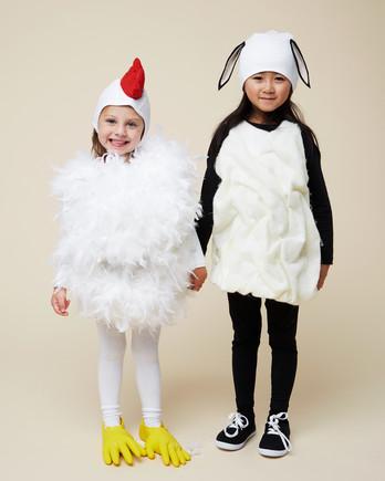 chicken lamb halloween kids costumes