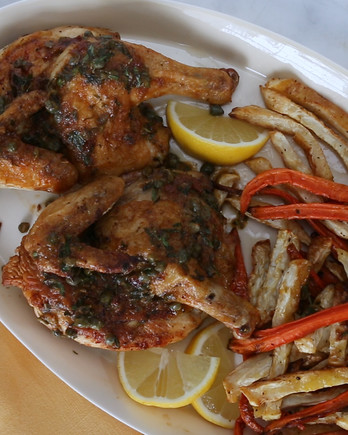 Roasted Cornish Game Hens with Mustard-Tarragon Sauce Video EDFSC