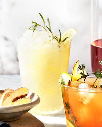 frozen gin terragon lemonade