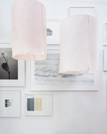 DIY sheer lanterns hanging craft