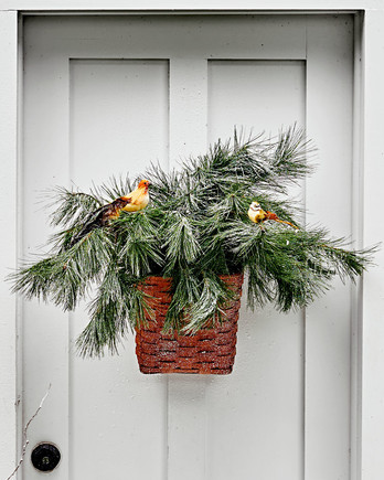 winter bird basket