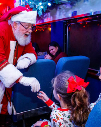 Santa on the Polar Express Train Ride