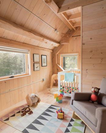 all-wood rustic nursery