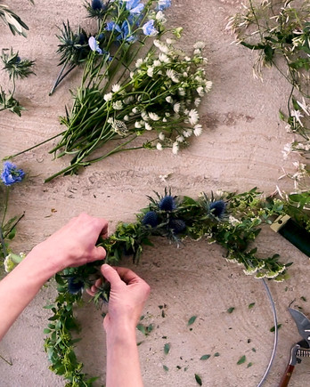 DIY Fresh Flower Wreaths Video Image