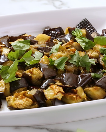 Roasted Eggplant with Basil Video EH