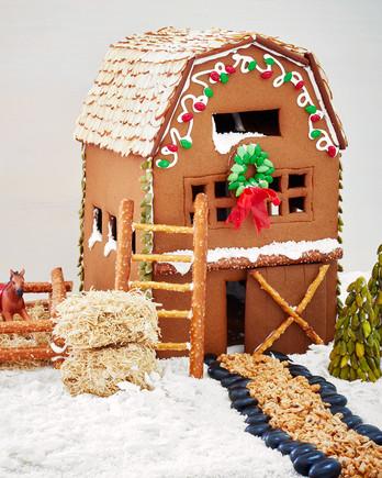 gingerbread barn house
