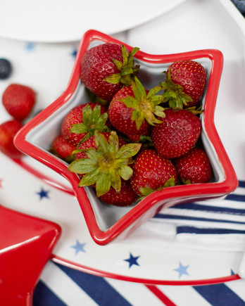 martha stewart americana collection star-shaped dish