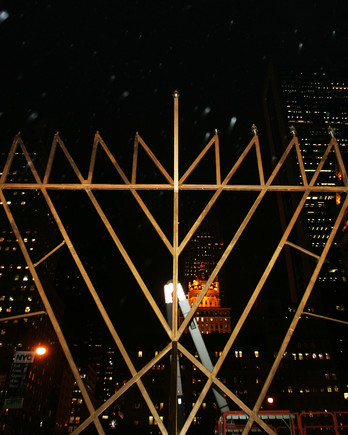 menorah in midtown Manhattan, New York City