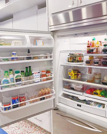 organized open refrigerator