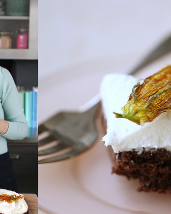 Chocolate Zucchini Sheet Cake with Cream-Cheese Frosting Video ST