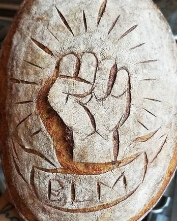 Black Lives Matter themed bread