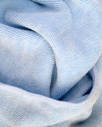 light blue microfiber cloth