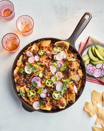 skillet chili nachos