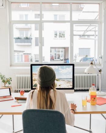 women in office space
