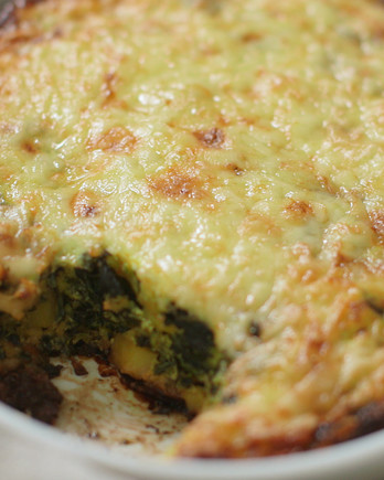 Cheesy Spinach, Potato Egg Casserole IMAGE