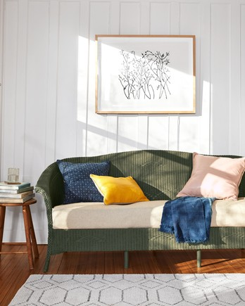 painted wicker sofa living room