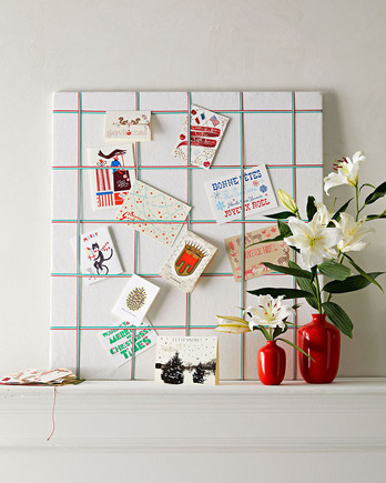holiday card display board