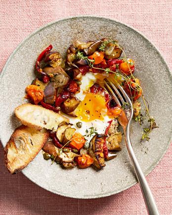 Roasted Ratatouille and Eggs