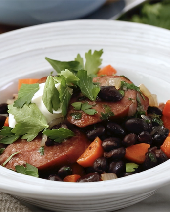 Black Beans and Sausage IMAGE