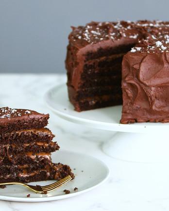 Salted-Caramel Six-Layer Cake IMAGE