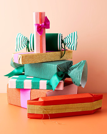 stripes and patterned gift wrapping ideas