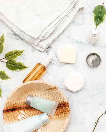 Clean Skincare Guide, Beauty Products on Marble Counter