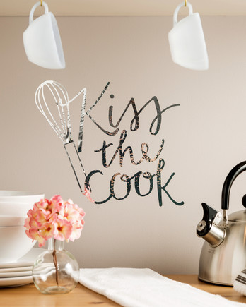 cricut kitchen wall decal kiss the cook