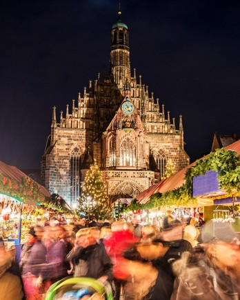 Nuremberg Christmas market scene